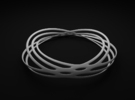 Spiral Style Bracelet 2 in White Strong & Flexible Polished