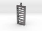 Stacked Bar Pendant in Polished Nickel Steel