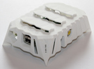 Edges Raspberry Pi Case in White Strong & Flexible