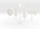 MOTU Weapons Bundle for Minimates in White Strong & Flexible Polished
