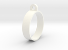E-cig Mod Ring 25mm in White Strong & Flexible Polished