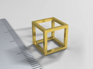 One Cubic Centimeter in Matte Gold Steel