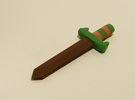 Zelda Fan Art: TLoZ: Sword (Wooden) in Full Color Sandstone
