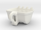 Bulldozer Mug 250ml heavy duty in White Strong & Flexible