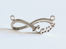 Love forever-Infinity Love Necklace Centerpiece in Polished Silver