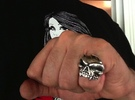 Old School Skull Ring - Size 6.5 in Raw Silver