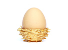 Gold 'Nest' Egg Cup in Matte Gold Steel