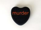 "Candy Heart ""murder"" - Black/Red in Full Color Sandstone"
