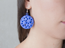 Flowers Earrings in Blue Strong & Flexible Polished