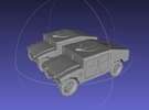 1/144 Humvee Slantback (Dual Pack) in White Strong & Flexible Polished