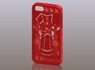 iPhone5_The Chinese Style--Traditional Opera 02 in Red Strong & Flexible Polished