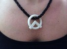 A-Symbol Pendant in White Strong & Flexible Polished