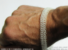 Euro 6-in-1 Chainmail Bracelet A in Frosted Ultra Detail