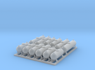 12 Propane Tanks in Frosted Ultra Detail
