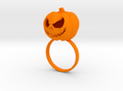 Pumpkin ring - Size 9 in Orange Strong & Flexible Polished