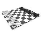 Ring Chess Set in White Strong & Flexible