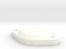 1/6 Panzer III Starter Cover (PZ3008) in White Strong & Flexible Polished