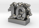 10th Anniversary Aluminum Gift in Raw Silver