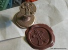 Gingerbread Man Wax Seal in Stainless Steel