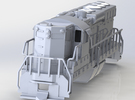 EMD SD24 Locomotive OO Scale 1:76 in White Strong & Flexible