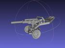 1/144   M102 Howitzer in White Strong & Flexible Polished