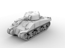 M4 Sherman(1:48 Scale) in White Strong & Flexible Polished