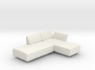 1:48 Modern Sectional Corner Sofa in White Strong & Flexible