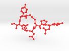 Oxytocin Molecule BIG in Red Strong & Flexible Polished