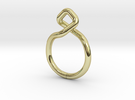 """A Line"" Dancing D.01, d=16,5mm (alls sizes on dem in 18k Gold Plated"