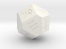Liubo 14 Sided Dice in White Strong & Flexible