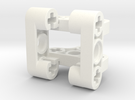 Wormgear Case 3x3x3 in White Strong & Flexible Polished
