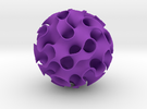 Implicit surface ornament in Purple Strong & Flexible Polished