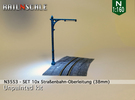 SET 10x Stra�enbahn-Oberleitung 38mm (N 1:160) in White Strong & Flexible