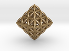 Flower Of Life Octahedron in Polished Gold Steel