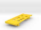 Yokomo 834b Battery Tray in Yellow Strong & Flexible Polished