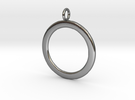 Ring-shaped pendant � smooth in Polished Silver