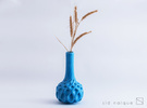 December Vase in Gloss Blue Porcelain