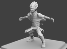 Halfling figurine in Frosted Ultra Detail