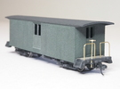 HOn30 30ft Baggage Car B (no windows) in White Strong & Flexible