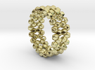 Lost Gemstones, Ring d=16mm(all sizes available) in 18k Gold Plated