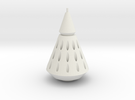 Rocket Nose Cone with Tip in White Strong & Flexible