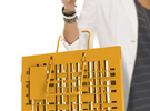 geometric urban code bag 01 in White Strong & Flexible