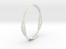 Twisted Hex Ring in White Strong & Flexible