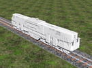 N Scale Alco C-855B Locomotive Shell in Frosted Ultra Detail