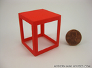 Framed 1:12 scale Side Table in Red Strong & Flexible Polished