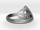 Diamant Ring V3 (geen Tekst) - 13-11-29 in Polished Silver
