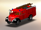 Magirus Mercur Feuerwehr TLF 1:160 in Frosted Ultra Detail