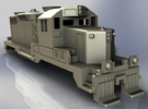 GP20 Locomotive in N Scale in White Strong & Flexible