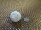 Hollow Wire Sphere V2 in White Strong & Flexible