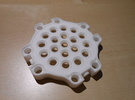 LEGO®-compatible gearbox cap in White Strong & Flexible